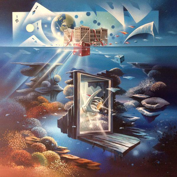 Thierry Mordant, Mc Bay 8ème merveille, acrylique sur toile, 100 x 100 cm © T. Mordant