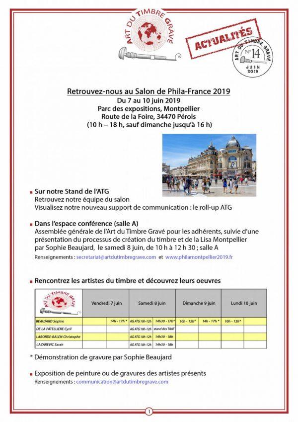 """Lettre """"ATG Actualités"""", n° 14, Juin 2019"""