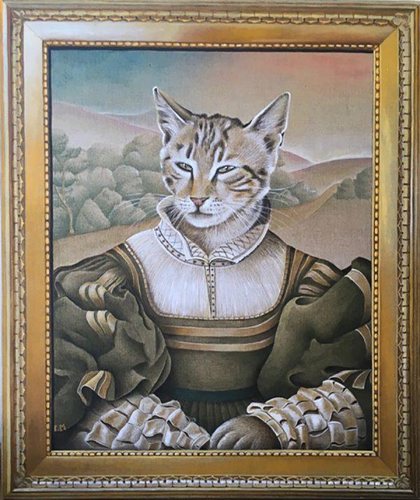 """""""Elionor"""", 82 x 69 cm, acrylique sur toile de lin"""