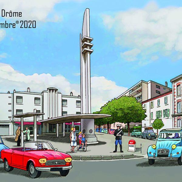 Carte postale Fête du Timbre Valence 2020